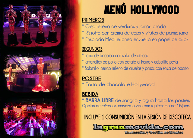 MENU HOLLYWOOD